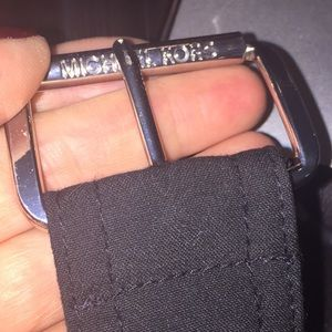 Michael Kors canvas black belt